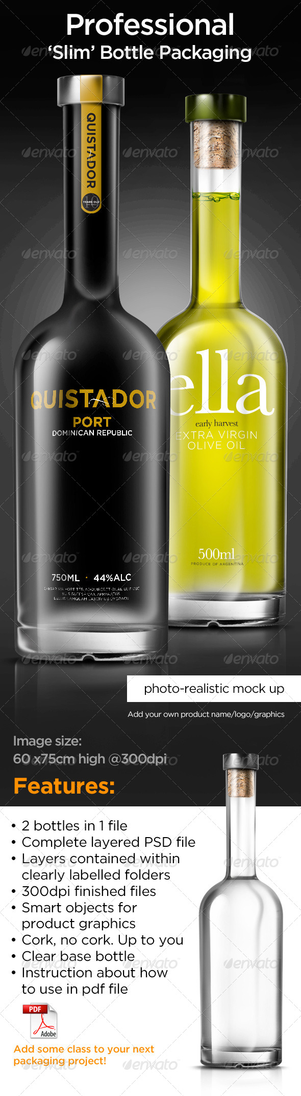 GraphicRiver TALL BOTTLE MOCK-UP 6768710