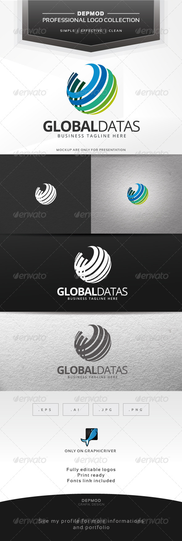 GraphicRiver Global Datas Logo 6768813