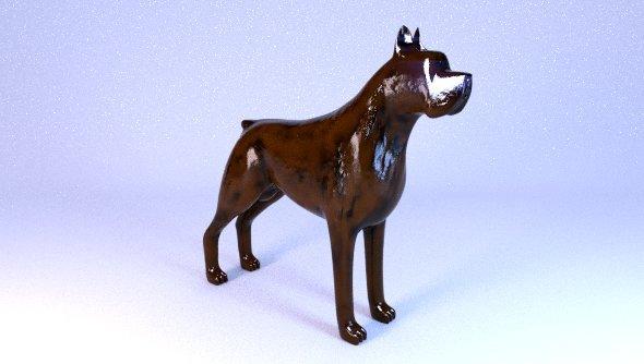 3DOcean bronze dog 6768849