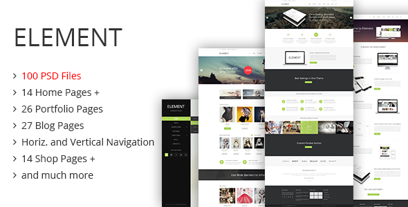 ThemeForest Element PSD Template 6713896