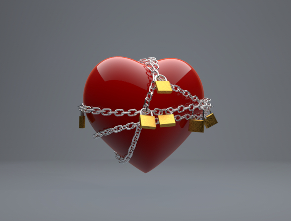3DOcean Chained Heart 6769046
