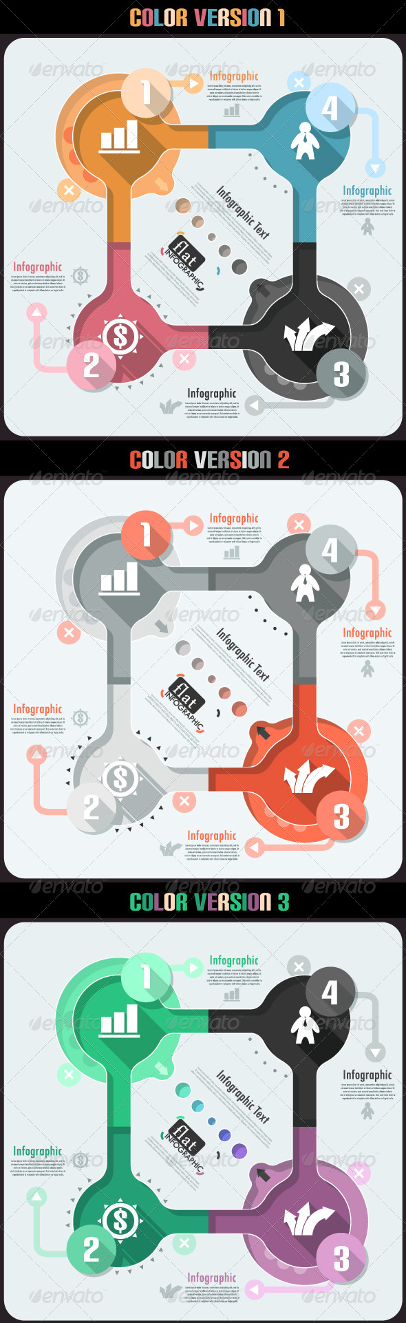 GraphicRiver Flat Infographic Banner Three Versions 6769058