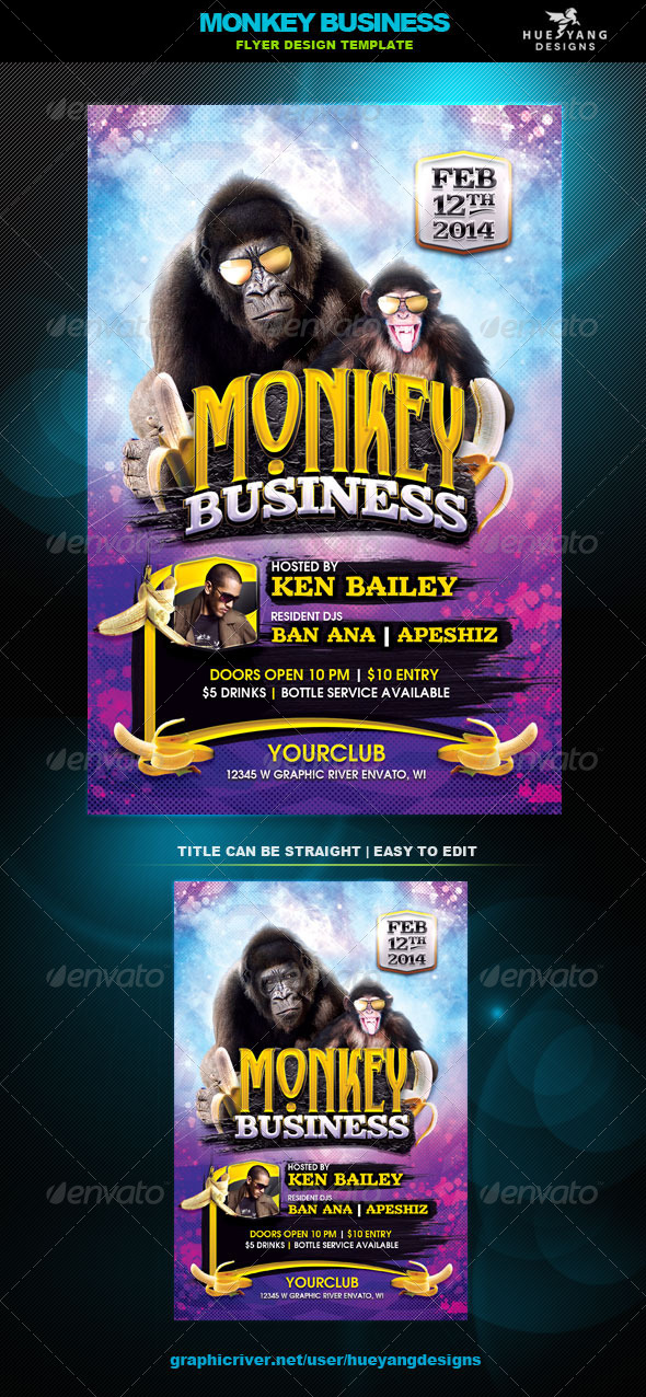 GraphicRiver Monkey Business Flyer 6769099