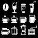 White Coffee Drinks Icons - GraphicRiver Item for Sale