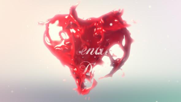 Valentines Heart Logo Reveal
