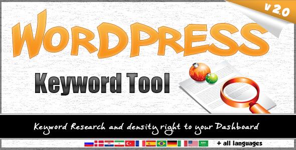 Wordpress Keyword Tool Plugin - CodeCanyon Item for Sale