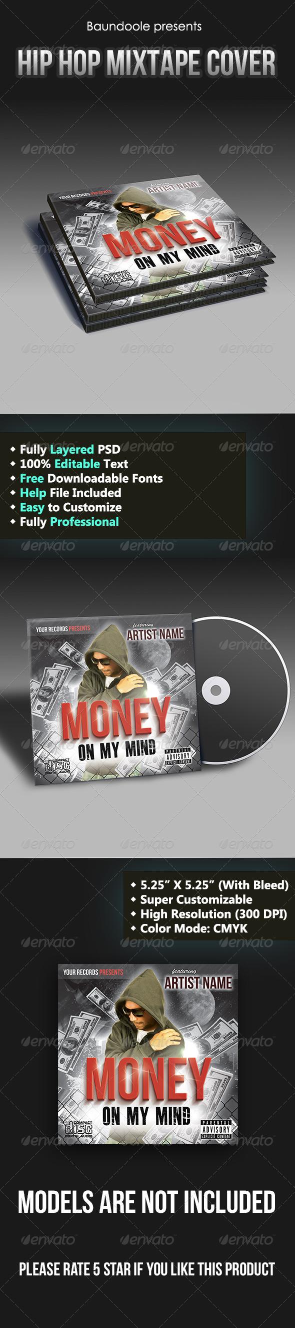 GraphicRiver Hip Hop Mixtape Cover Template 6663523
