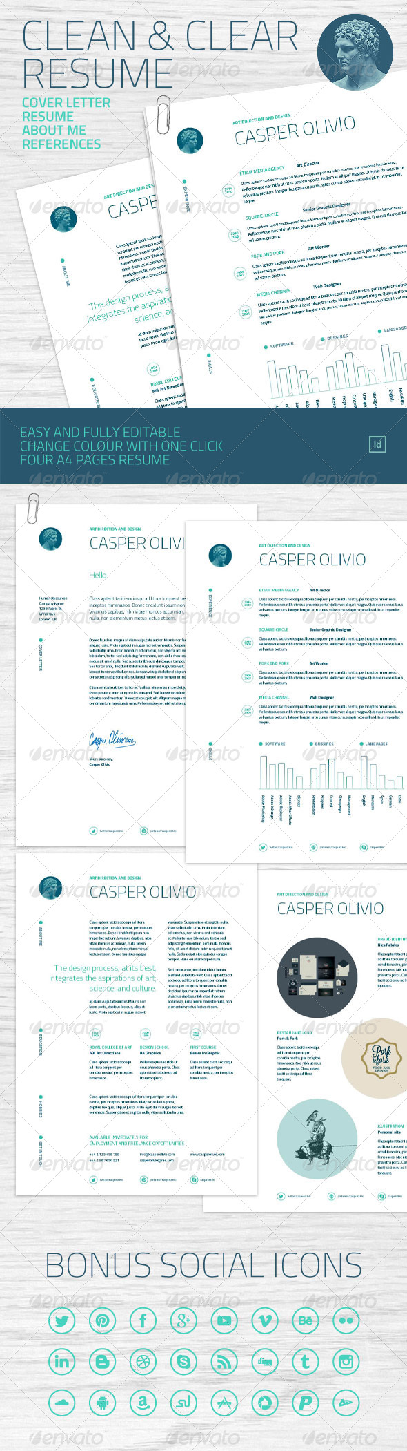 GraphicRiver Clean and Clear Resume 6769621