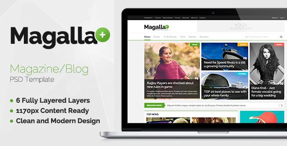 ThemeForest Magalla Magazine News PSD 6704238