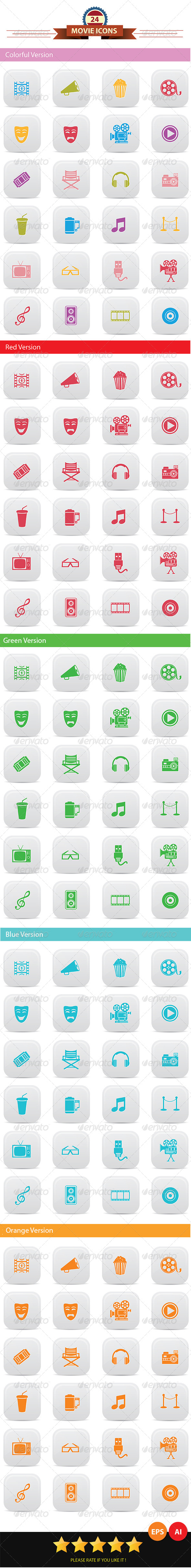 GraphicRiver Movie Icons 6769724