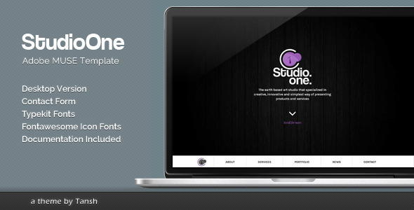 StudioOne Muse Template - Corporate Muse Templates
