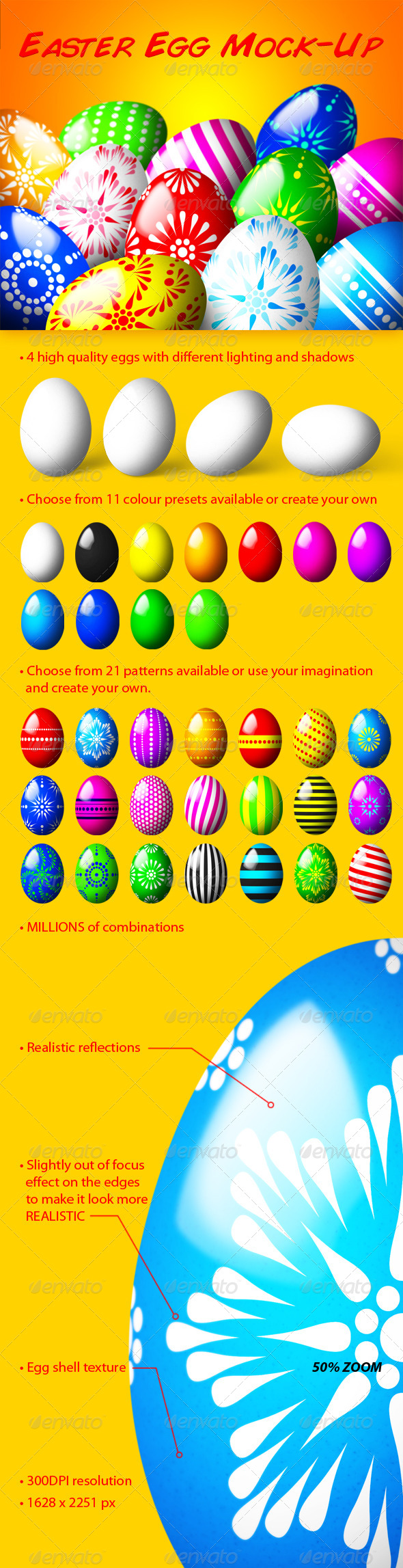 GraphicRiver Easter Egg Mock-Up 6769845