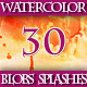 Set of Watercolor Blobs Splashes Backgrounds. - GraphicRiver Item for Sale