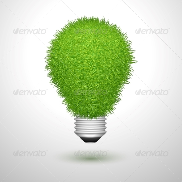GraphicRiver Green Creative Lightbulb Isolated 6769997