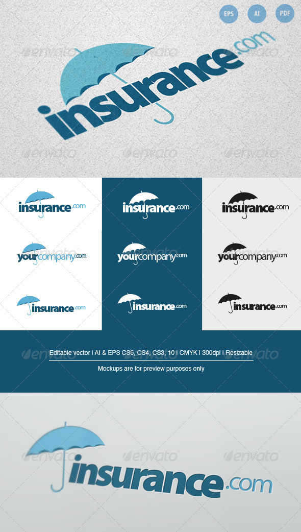GraphicRiver Insurance Company Logo 6715831