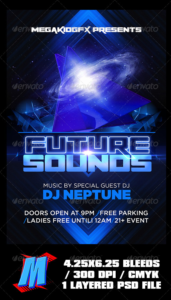 GraphicRiver Future Sounds Flyer Template 6770218