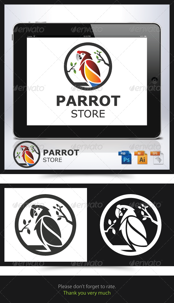 GraphicRiver Parrot Store Logo 6770383