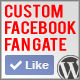 Custom Facebook Fan Gate Plugin for Wordpress