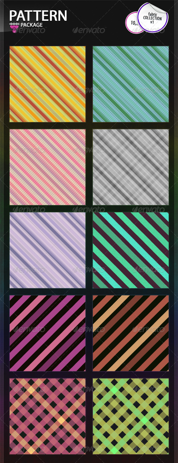 GraphicRiver Fabric Patterns Collection v1 6770515