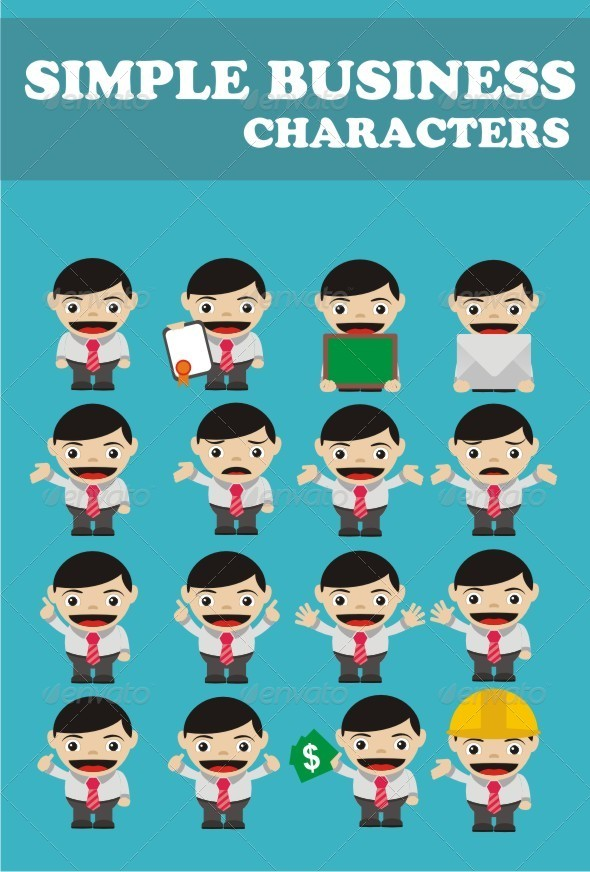 GraphicRiver Simple Business Characters 6770521