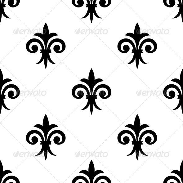 GraphicRiver Fleur de Lys Seamless Pattern 6770695