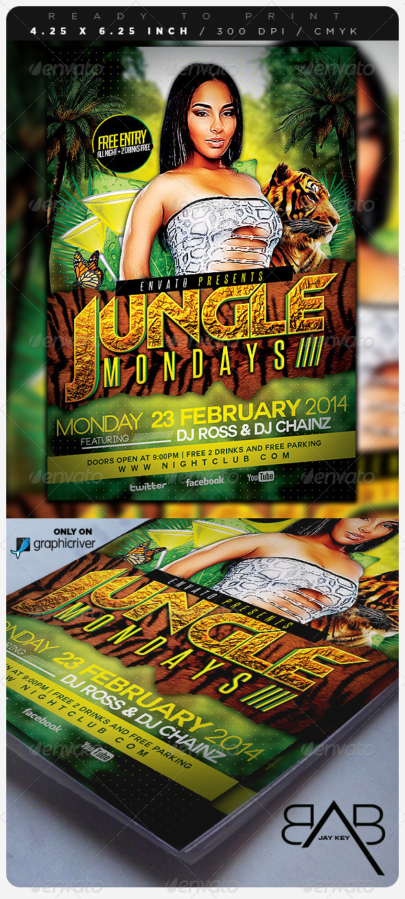 GraphicRiver Jungle Days Party Flyer 6770704