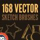 168 Vector Art Brushes - Bundle