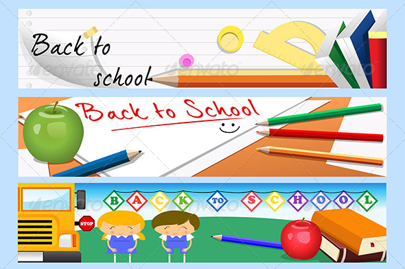 GraphicRiver Back To School Banners 6770804