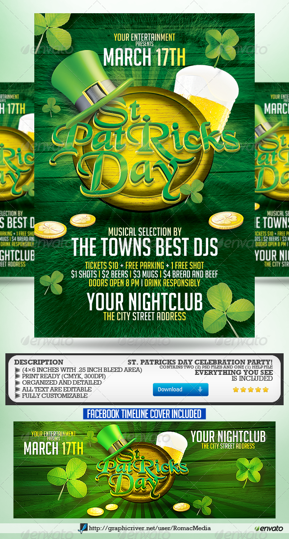 GraphicRiver St Patrick s Day Party Flyer 6772002