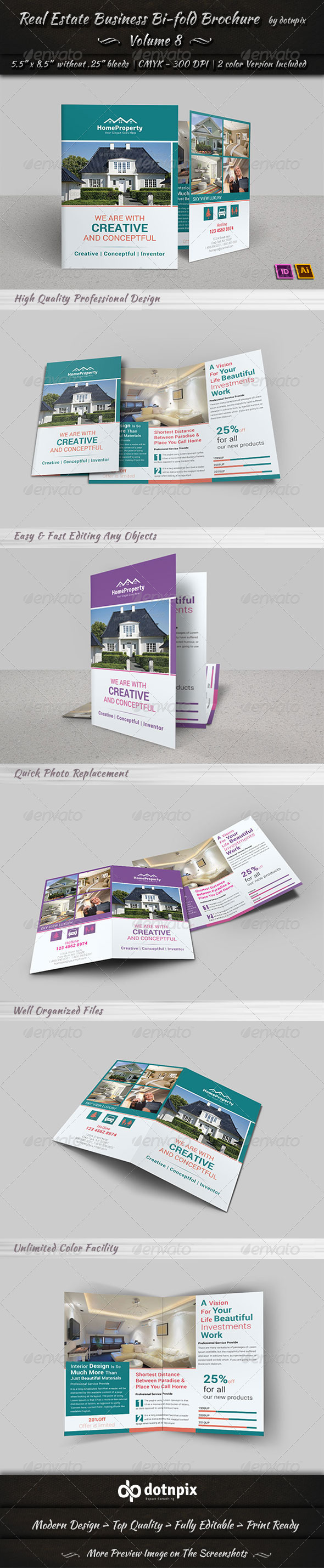 GraphicRiver Real Estate Business Bi-Fold Brochure Volume 8 6764541