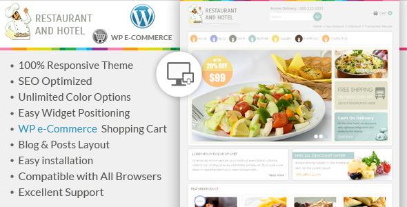 Restaurant - WordPress E-Commerce Theme - WP e-Commerce eCommerce