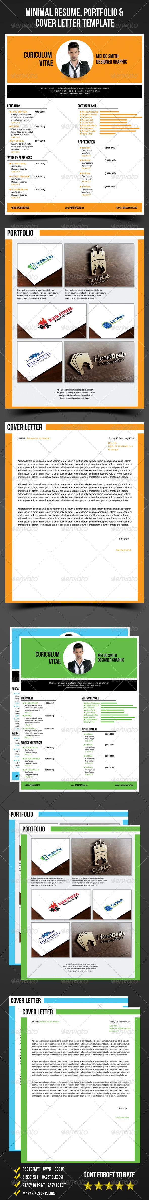GraphicRiver Minimal Resume Portfolio & Cover Letter Template 6773080