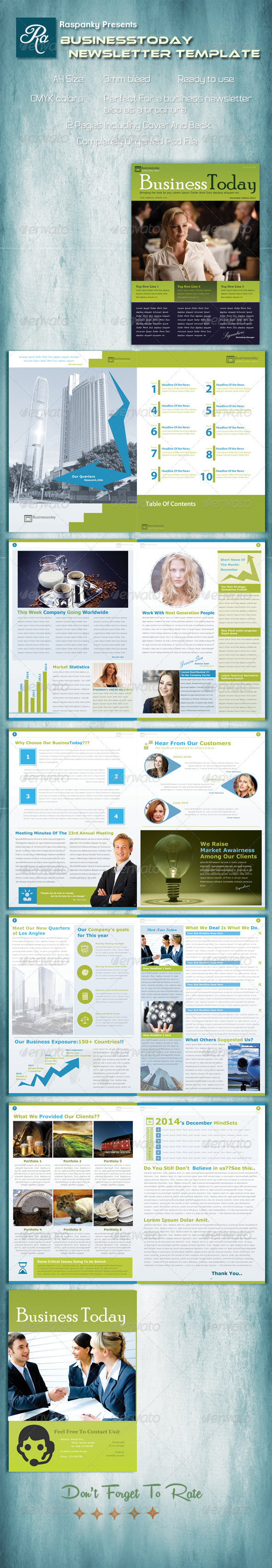 GraphicRiver Businesstoday Brochure Template 6773493