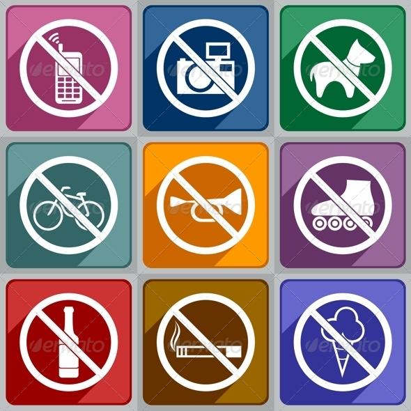 GraphicRiver Icons Prohibition 6773808
