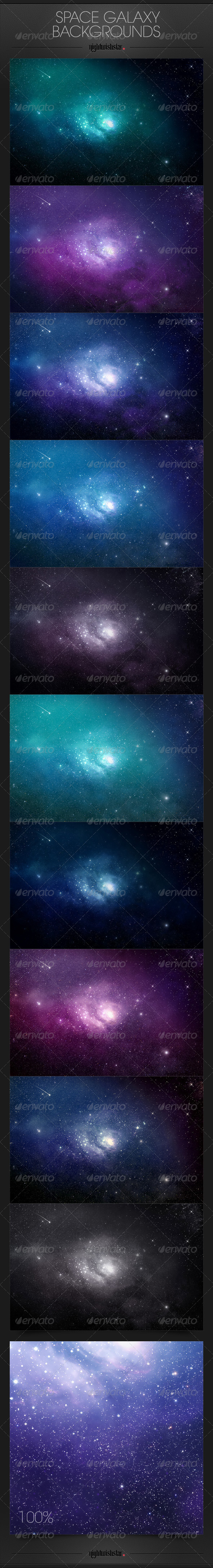 GraphicRiver Space Galaxy Backgrounds 6773959