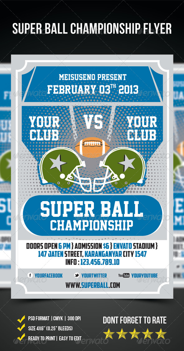 Super Ball Championship Flyer - Sports Events