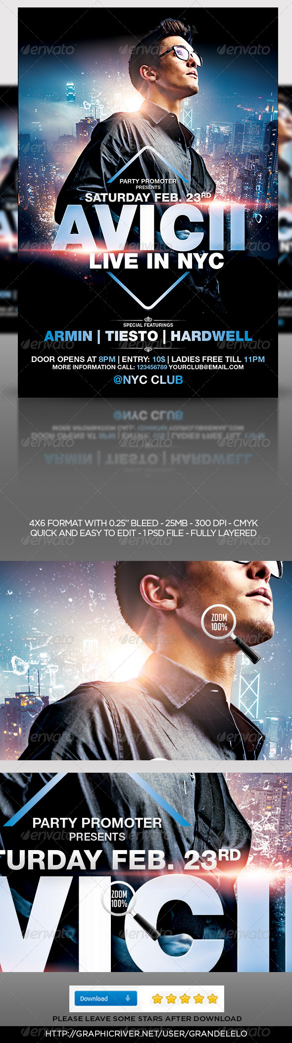 GraphicRiver House DJ Party Flyer Template 6774107