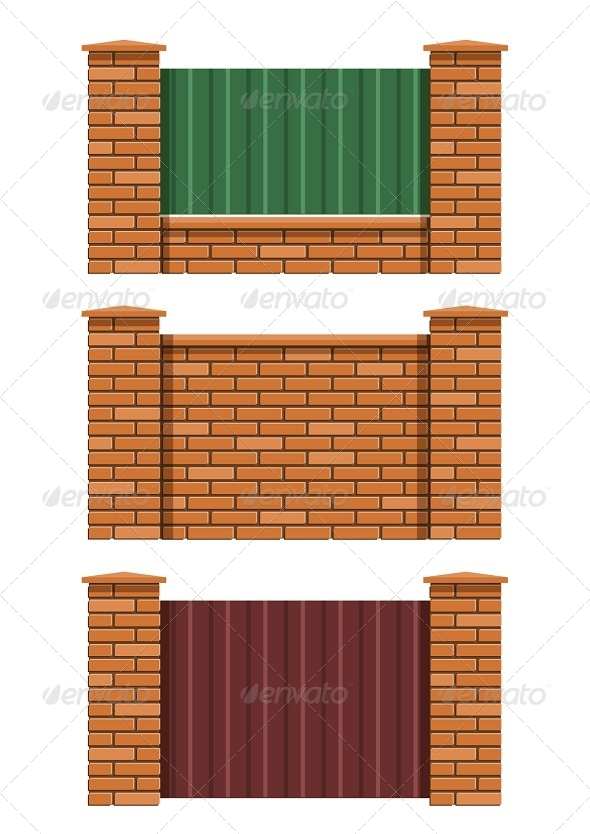 GraphicRiver Brick Fence 6774421