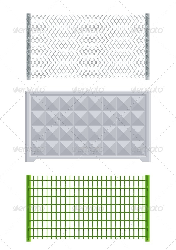 GraphicRiver Meallic Net and Concrete Fence 6774441