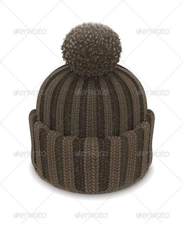 GraphicRiver Winter Knitted Bubble Hat 6774457