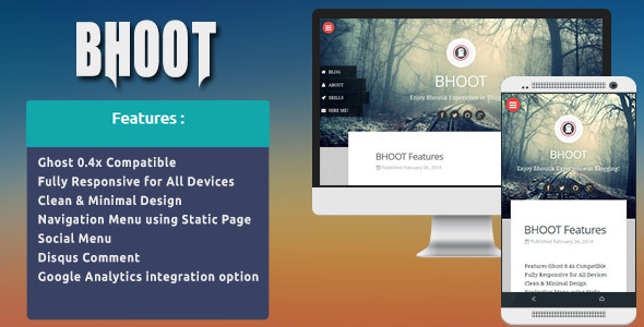 Bhoot - Responsive & Minimal Ghost Theme