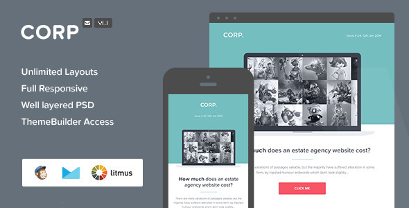 ThemeForest Corp Responsive Email & Themebuilder Access 6716001