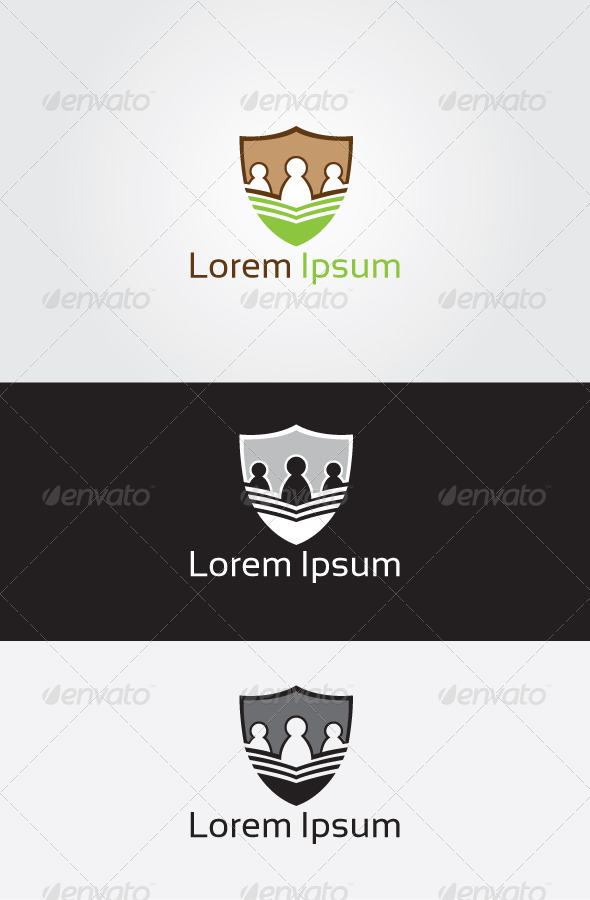 GraphicRiver Protect People Logo 6775324