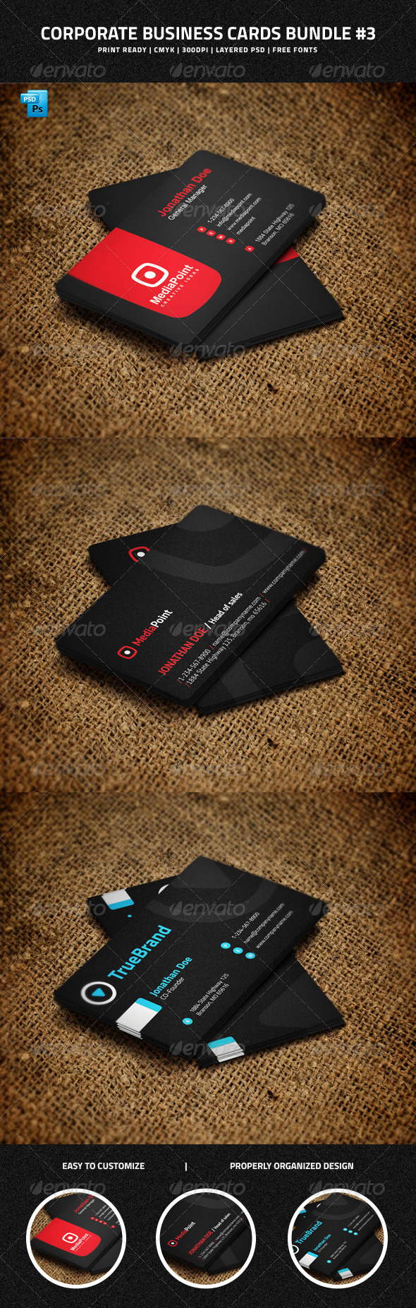 GraphicRiver Corporate Business Cards Bundle #3 6775546