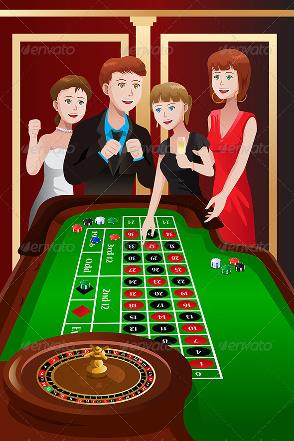 GraphicRiver People Playing Roulette in a Casino 6775660