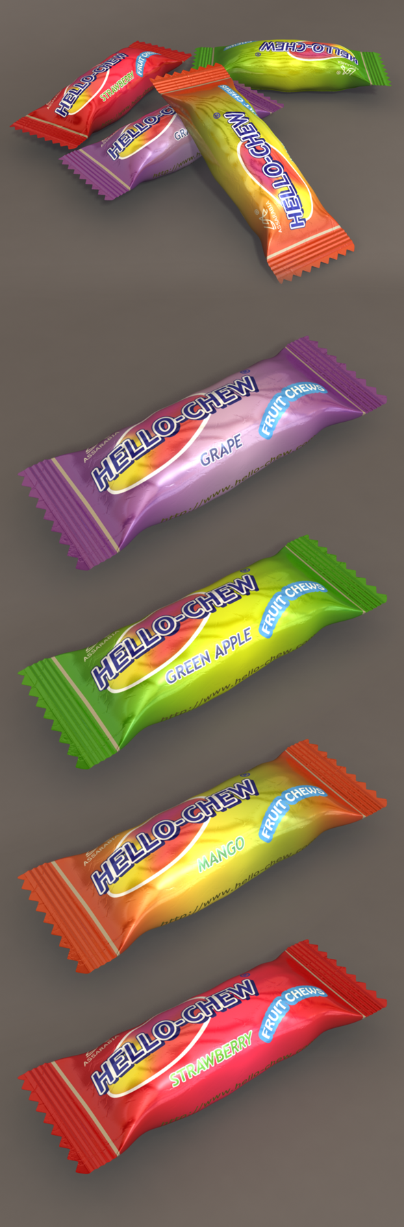 3D Candy Model - 3DOcean Item for Sale