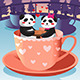 Panda in Love - GraphicRiver Item for Sale