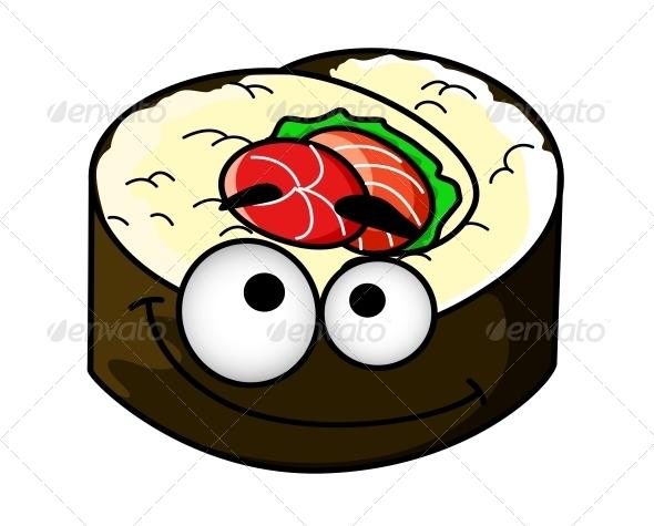 GraphicRiver Portion of Cartoon Sushi 6775697