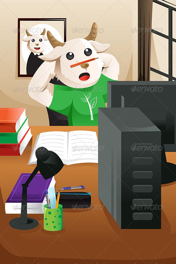 GraphicRiver Bored Sheep 6775713
