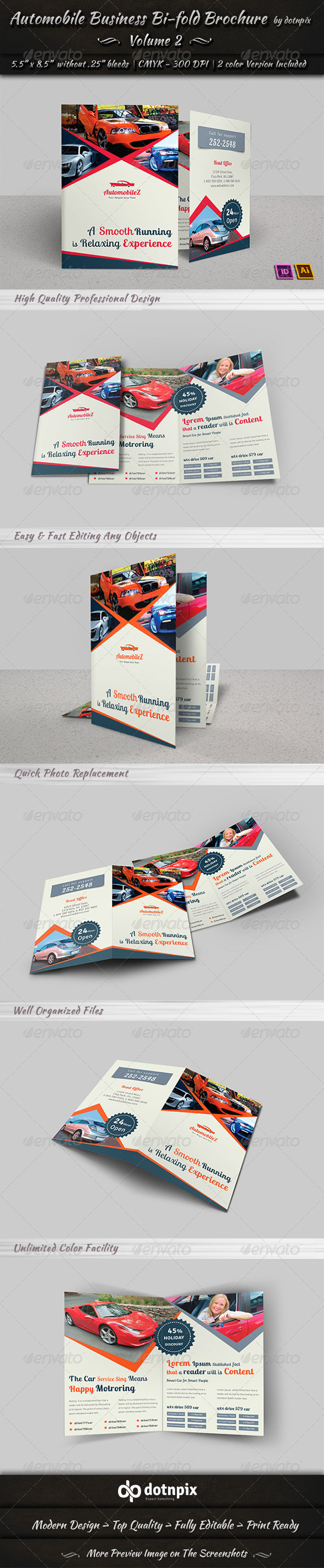 GraphicRiver Automobile Business Bi-Fold Brochure Volume 2 6775788